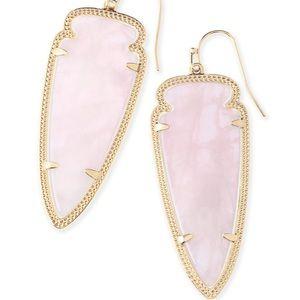 Kendra Scott Skylar Earrings in Rose Quartz 💗